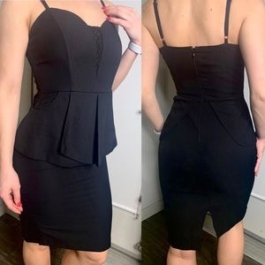 Kardashian Kollection Black Midi Dress